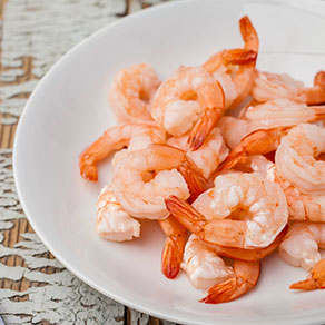 10 shrimp cooked and cleaned