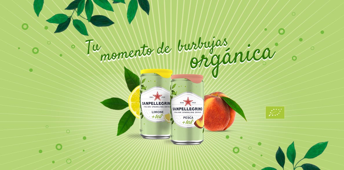 sanpellegrino tea beverages: lemon and peach