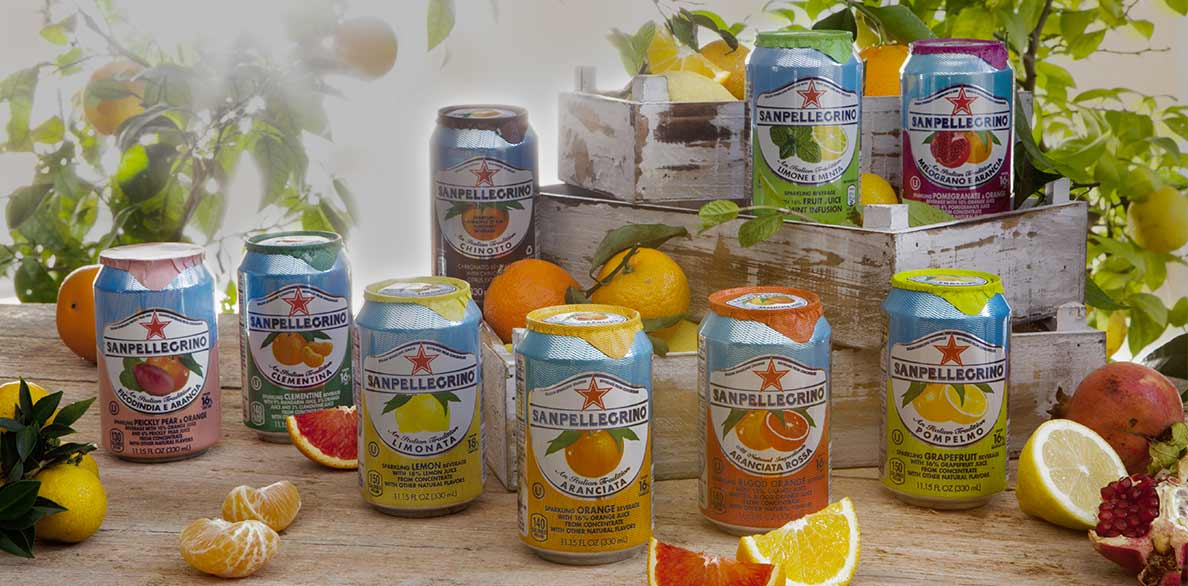 all the sanpellegrino sparkling fruit beverage flavors in cans