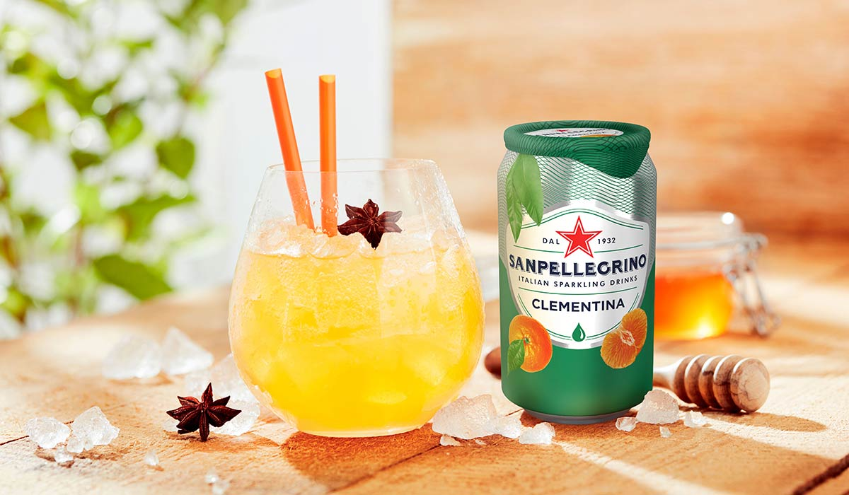 Clementina Dream non-alcoholic cocktail with Clementina Sanpellegrino