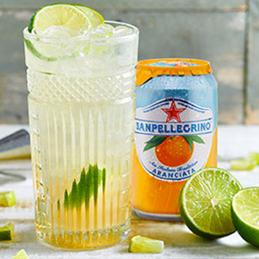 the drink After Orange made with Sanpellegrino orange beverage