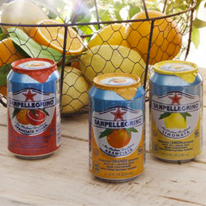 sanpellegrino fruit beverages with red orange, orange and lemon