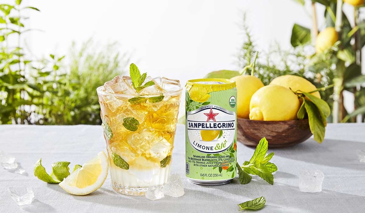 Lemon Cardamom Sparkler non alcoholic cocktail