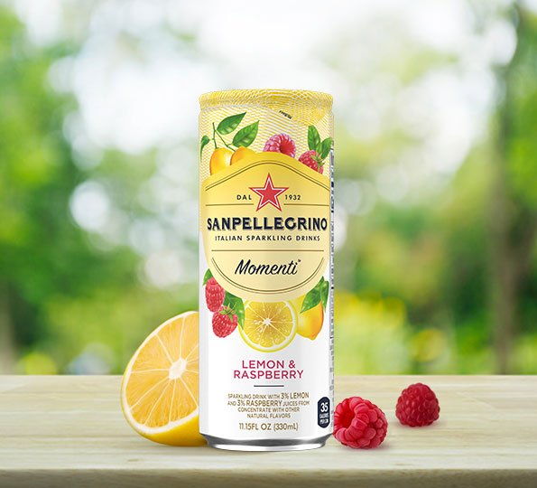 Sanpellegrino Momenti: Lemon and Raspberry Sparkling Drink