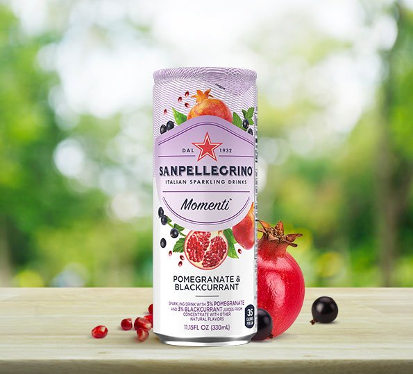 Sanpellegrino Momenti: pomegranate and blackcurrant sparkling drink