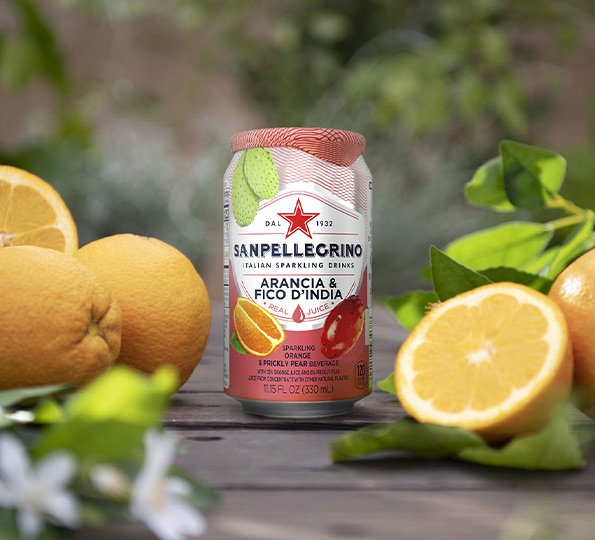 sanpellegrino arancia and fica d' india sparkling orange and prickly pear drink details