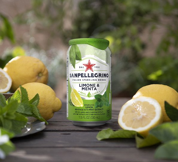 sanpellegrino limone and menta sparkling lemon and mint drink details
