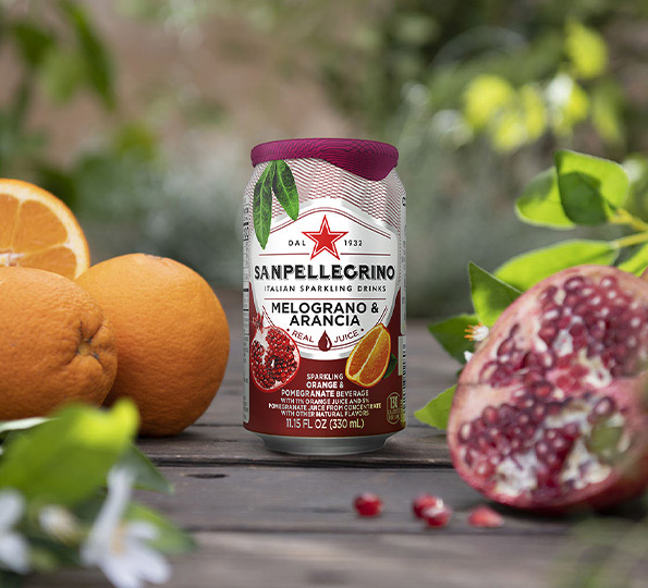 sanpellegrino melograno and arancia sparkling orange and pomegranate drink details