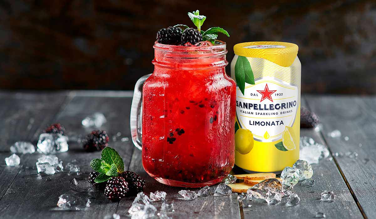 Gingermore non-alcoholic cocktail with ginger and Limonata Sanpellegrino