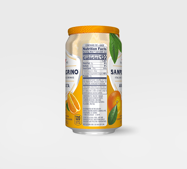 Sanpellegrino Aranciata – Can Left Side