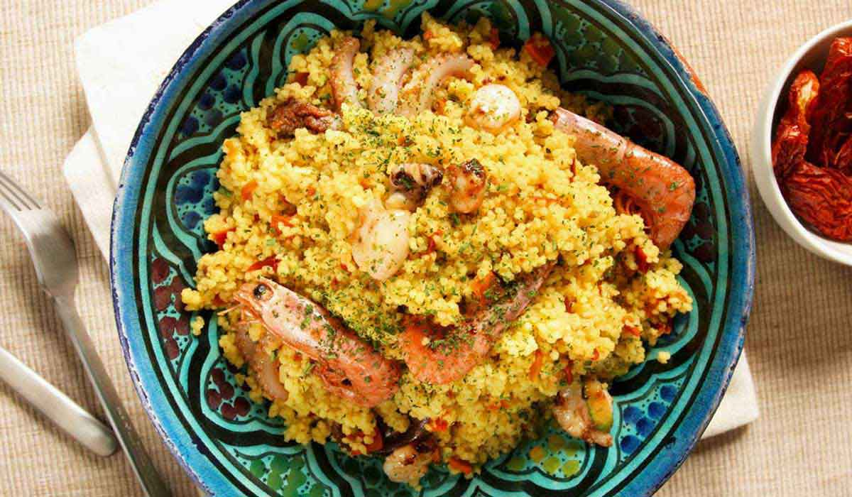 bowl of couscous alla trapanese