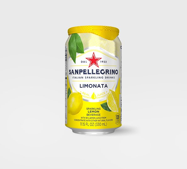 san pellegrino limonata sparkling lemon drink can