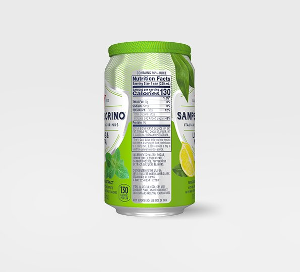 Sanpellegrino Limone & Menta – Can Left Side