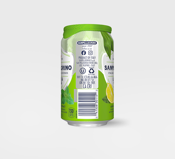 Sanpellegrino Limone & Menta – Can Right Side