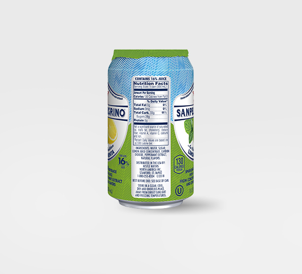 Sanpellegrino Limone e Menta – Can right side