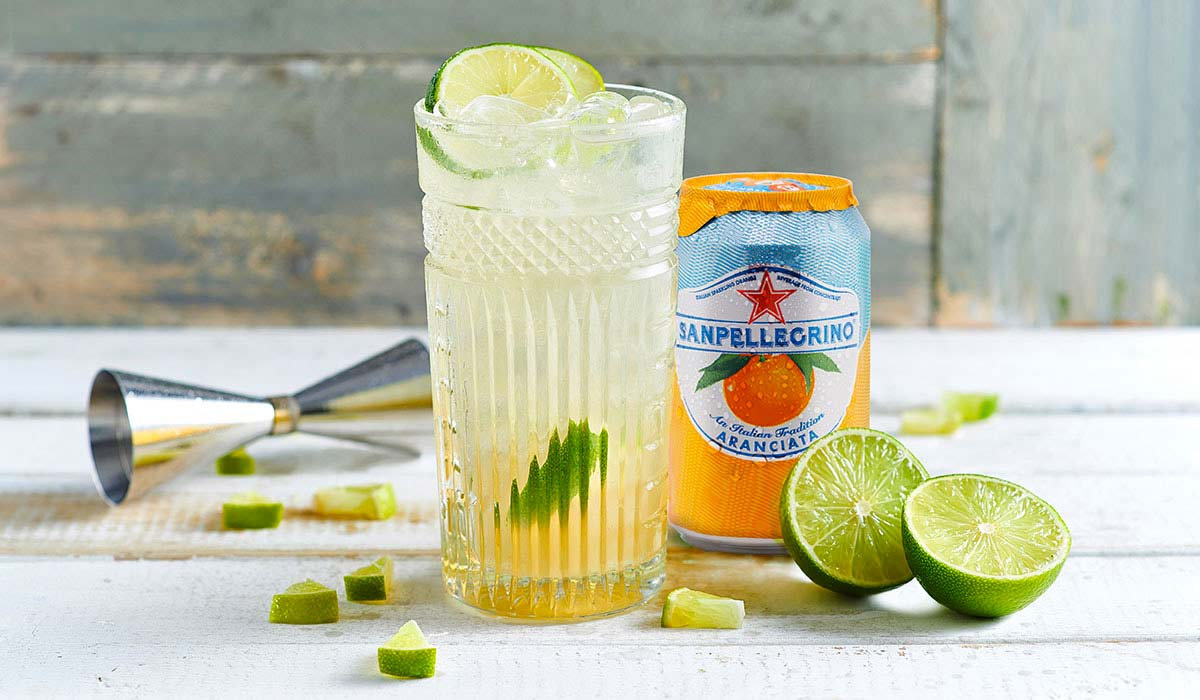 After Orange cocktail with Aranciata Sanpellegrino