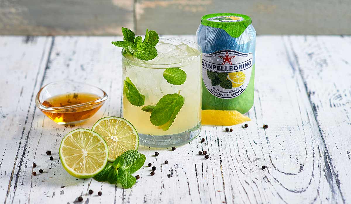 Chili Lime mocktail with Sanpellegrino limone e menta