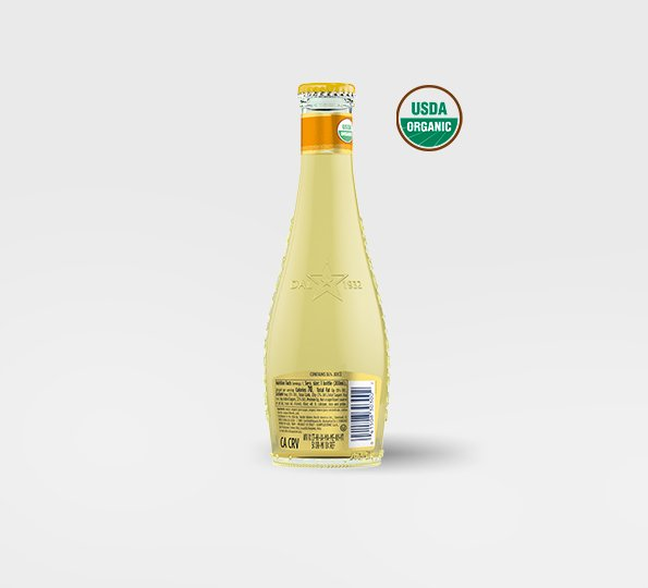 A bottle of Sanpellegrino limonata organic lemon drink – Back