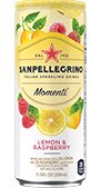 momenti lemon and raspberry drink details
